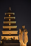Xi'an Big Wild Goose Pagoda Buddhist Historic Buildings Stock Photo
