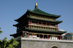 Xi'an, China: C. 1384 Bell Tower Royalty Free Stock Images