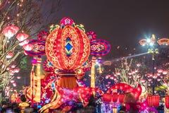 Xi ?, China - 13 de fevereiro de 2019 A multid?o no ponto c?nico para comemora o festival de mola chin?s imagens de stock royalty free