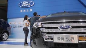 Xi'an CHINA, - 30 de septiembre de 2013: - Sal?n del autom?vil de Macao, metrajes