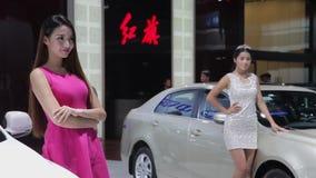Xi'an CHINA, - 30 de septiembre de 2013: - Sal?n del autom?vil de Macao, almacen de metraje de vídeo