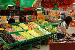 Xi'an, China: Hong World Supermarket Stock Foto's