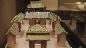 XI`AN China-May 30 2012: Chinese ancient cultural relic display in Shaanxi Museum stock video footage