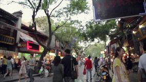 XI`AN CHINA- MAY 26 2012: Crowd on street , stock video