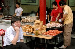 Xi'an, China: Muslim Quarter Restaurant royalty free stock images