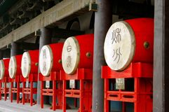 Xi'an, China: Red Drums at Drum Tower Royalty Free Stock Image