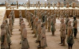 Xi'an, China: Terra Cotta Warriors Museum Royalty Free Stock Images