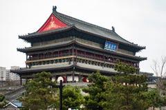 Xi'an China Zhong Lou Central Belltower Cold Winter dia o 20 de março imagem de stock royalty free