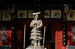 Xi'an, Chine : Statue d'empereur Zhou chez Hua Qing Chi Palace Images libres de droits