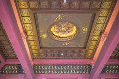 Xi`an Chinese Ci`en Temple inside of the building, called the hall of light. Royalty Free Stock Photo