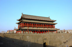 Xi'an city wall in china Royalty Free Stock Images