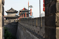 Xi'an City Wall, Side View Royalty Free Stock Photos