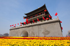 Xi'an Drum Tower at autumn Royalty Free Stock Photography