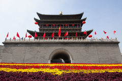 Xi'an Drum Tower at autumn stock photos