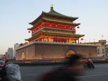 Xi`an Drum Tower stock image
