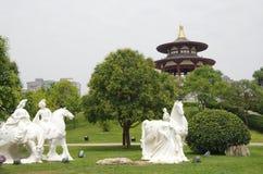Xi een 'datang furong tuin in China stock foto