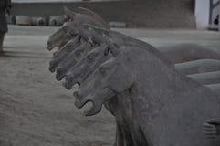 ` XI eine Terrakotta-Pferde Lizenzfreie Stockfotos