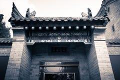 ` XI en forntida kinesisk arkitektur för Guangren tempel Arkivbilder