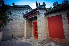 ` XI en forntida kinesisk arkitektur för Guangren tempel Fotografering för Bildbyråer