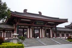 ` XI en tempel för en för kinesCi-` inom av byggnaden, kallat den mystiska munken Academy royaltyfria foton