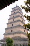 ` XI en tempel för en för kinesCi-` inom av byggnaden, kallat den stora lösa gåspagoden fotografering för bildbyråer