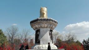XI ?ett porslin Tang Hibiscus Garden royaltyfria foton