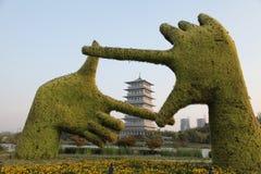 XI. 'expo ogród, changan wierza fotografia stock