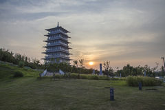 XI. 'expo ogród, changan wierza zdjęcie stock