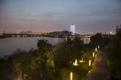 XI. 'expo ogród, changan wierza zdjęcia royalty free