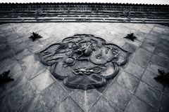 Xi`an Guangren temple Ancient Chinese Dragon. Xi`an Guangren temple is located in the Xi`an city wall in the northwest corner, is the only Chinese Green Tara is Royalty Free Stock Images