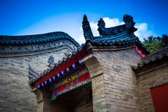 Xi`an Guangren temple Ancient Chinese Architecture. Xi`an Guangren temple is located in the Xi`an city wall in the northwest corner, is the only Chinese Green Royalty Free Stock Photos
