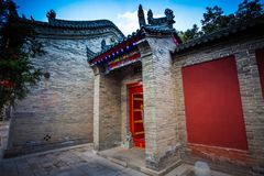 Xi`an Guangren temple Ancient Chinese Architecture. Xi`an Guangren temple is located in the Xi`an city wall in the northwest corner, is the only Chinese Green Stock Image