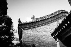 Xi`an Guangren temple Ancient Chinese Architecture. Xi`an Guangren temple is located in the Xi`an city wall in the northwest corner, is the only Chinese Green Stock Photo