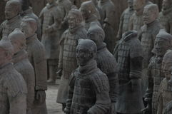 Xi& x27; guerreros de un ejército de la terracota imagen de archivo libre de regalías