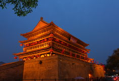 Xi'an Gulou——Xi'an Drum Tower. Xi'an Drum Tower is located in the city center of Xi'an city.It is a long history of Architecture Royalty Free Stock Photos