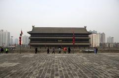 Ancient Wall tower Xi`an China royalty free stock photography