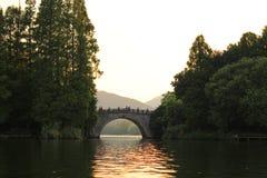 XI HU (den västra sjön) Arkivfoto