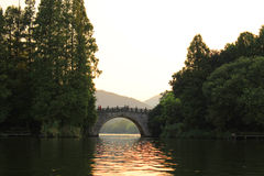 XI HU (lac occidental) Photo stock