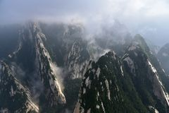 Xi An Hua Shan of China. A very dangerous mountain peak in China`s Shaanxi Province Royalty Free Stock Photography