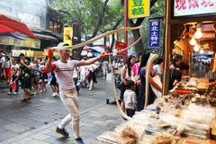 Xi 'an hui street food production Stock Photography