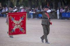XI insignias de la brigada de Extremadura Imagenes de archivo