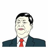 XI Jinping, presidente del ` s la República de China, ejemplo plano de la gente del vector del diseño