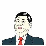 XI. Jinping, prezydent ludzie ` s republiki Chiny, Płaska projekta wektoru ilustracja ilustracji