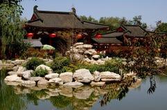 Xi'an Kina: Hua Chi Palace Arkivfoton