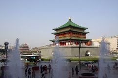 Xi'an Klocka torn Royaltyfri Fotografi
