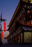 Xi'an miasta nocy scena obraz stock
