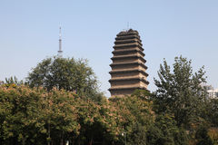 Xi 'an the morning bell in the small wild goose pagoda, clocks Royalty Free Stock Images