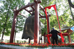 Xi 'an the morning bell in the small wild goose pagoda, clocks Royalty Free Stock Photo