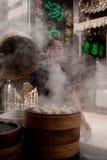 Xi'an Muslim Street Dumplings. A photo taken in Xi'an, China of dumplings being prepared on Muslim Street Stock Photo