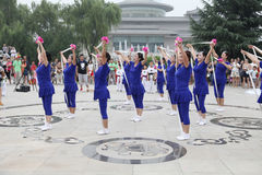 From xi 'an not ended the aunt who jumped up on the xi 'an museum square elastic dance Stock Images